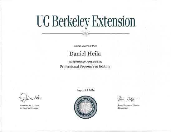 UC Berkeley Ext. Certificate
